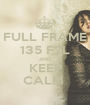 FULL FRAME 135 F2L AND KEEP CALM  - Personalised Poster A1 size