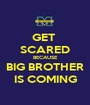 GET  SCARED BECAUSE BIG BROTHER IS COMING - Personalised Poster A1 size