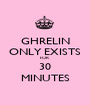GHRELIN ONLY EXISTS FOR  30 MINUTES - Personalised Poster A1 size