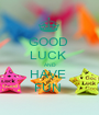 GOOD  LUCK  AND HAVE  FUN  - Personalised Poster A1 size