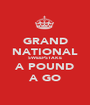 GRAND NATIONAL SWEEPSTAKE A POUND A GO - Personalised Poster A1 size