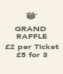 GRAND  RAFFLE  £2 per Ticket £5 for 3 - Personalised Poster A1 size