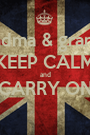 grandma & grandad KEEP CALM  and  CARRY ON  - Personalised Poster A1 size