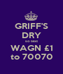 GRIFF'S DRY so text WAGN £1 to 70070 - Personalised Poster A1 size