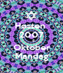 Høsten  2007    8 Oktober Mandag - Personalised Poster A1 size