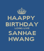 HAAPPY  BIRTHDAY LONG LIVE SANHAE HWANG  - Personalised Poster A1 size