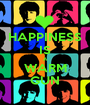HAPPINESS IS A WARM GUN - Personalised Poster A1 size