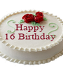 Happy  16 Birthday     - Personalised Poster A1 size