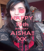 HAPPY 19th BIRTHDAY AISHA!! XX - Personalised Poster A1 size