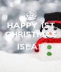 HAPPY 1ST CHRISTMAS  ISLA!!!  - Personalised Poster A1 size