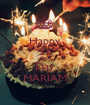 Happy 21 Birth Day MARIAM - Personalised Poster A1 size