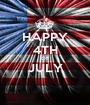 HAPPY 4TH OF JULY  - Personalised Poster A1 size