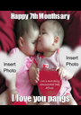 Happy 7th Monthsary I love you pangs - Personalised Poster A1 size