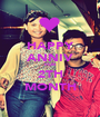 HAPPY ANNIV FOR 2TH MONTH - Personalised Poster A1 size