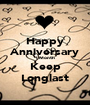 Happy Anniversary 1 Month Keep Longlast - Personalised Poster A1 size