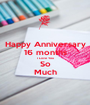 Happy Anniversary 16 months I Love You So Much - Personalised Poster A1 size