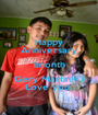 Happy Anniversary 1month Gery Martin!<3 Love you.. - Personalised Poster A1 size
