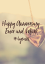 Happy Anniversary  Emer and Mark #4years - Personalised Poster A1 size