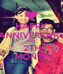 HAPPY ANNIVERSARY FOR 2TH MONTH - Personalised Poster A1 size