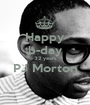 Happy b-day 32 years PJ Morton  - Personalised Poster A1 size