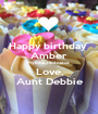Happy birthday  Amber My beautiful niece  Love, Aunt Debbie - Personalised Poster A1 size