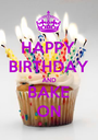 HAPPY BIRTHDAY AND BAKE ON - Personalised Poster A1 size