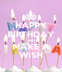 HAPPY BIRTHDAY AND MAKE A WISH - Personalised Poster A1 size