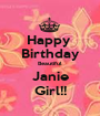 Happy  Birthday Beautiful Janie Girl!! - Personalised Poster A1 size