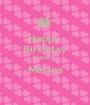 Happy  Birthday Beautiful  Marina  - Personalised Poster A1 size