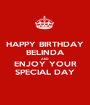 HAPPY BIRTHDAY BELINDA AND ENJOY YOUR SPECIAL DAY - Personalised Poster A1 size