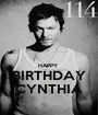 HAPPY  BIRTHDAY CYNTHIA - Personalised Poster A1 size