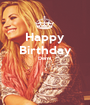 Happy Birthday Demi   - Personalised Poster A1 size