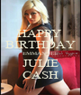 HAPPY  BIRTHDAY EMMANUEL JULIE CASH - Personalised Poster A1 size
