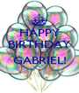 HAPPY BIRTHDAY  GABRIEL!  - Personalised Poster A1 size
