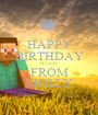 HAPPY BIRTHDAY HUGH FROM MOLLY - Personalised Poster A1 size