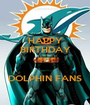 HAPPY BIRTHDAY JERRY  DOLPHIN FANS - Personalised Poster A1 size