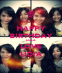 HAPPY BIRTHDAY LOLA LOVE LIDIA - Personalised Poster A1 size