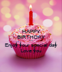 HAPPY BIRTHDAY Lori Enjoy your special day Love you - Personalised Poster A1 size