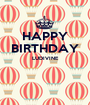 HAPPY BIRTHDAY LUDIVINE   - Personalised Poster A1 size