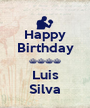 Happy Birthday ^^^^ Luis Silva - Personalised Poster A1 size