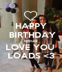 HAPPY  BIRTHDAY MEHAR LOVE YOU  LOADS <3 - Personalised Poster A1 size