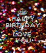 HAPPY BIRTHDAY MOM LOVE  YOU - Personalised Poster A1 size