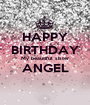 HAPPY BIRTHDAY My beautiful sister ANGEL  - Personalised Poster A1 size