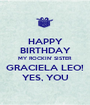 HAPPY BIRTHDAY MY ROCKIN' SISTER GRACIELA LEO! YES, YOU - Personalised Poster A1 size