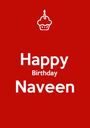 Happy Birthday Naveen  - Personalised Poster A1 size