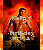HaPpY   Birthday ROSA - Personalised Poster A1 size