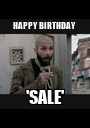 HAPPY BIRTHDAY  'SALE' - Personalised Poster A1 size