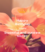 Happy  Birthday to my bootiful and cuteee sister - Personalised Poster A1 size