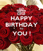 HAPPY BIRTHDAY TO YOU !  - Personalised Poster A1 size