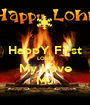 HappY First LOHRI My Love MJ - Personalised Poster A1 size